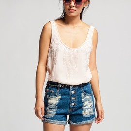 Mink Pink - Dark Feeling Denim Shorts