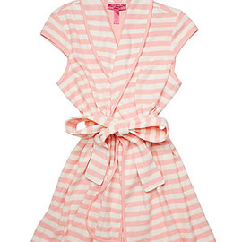 BETSEY JOHNSON - NEW BABY TERRY ROBE CORAL