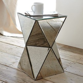 west elm - Faceted Mirror Side Table