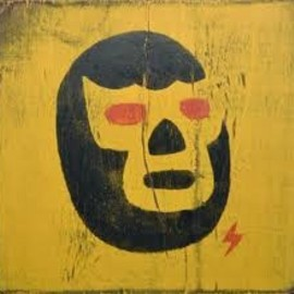 Lucha mask wall painting