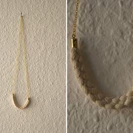 thingslikediamonds - Necklace - white wool - string
