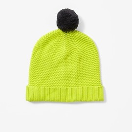 COS - Green pom-pom hat