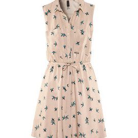 H&M - Bird print dress