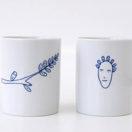 ALESSI - Genetic Tales mug cup AB01SET