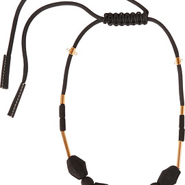 MARNI - Gold-tone, rope and wood necklace