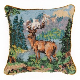 © rebORN - Decorative cushion / pillow: Cerf solitaire