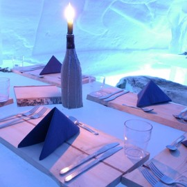 Finland - Dinner in Ice