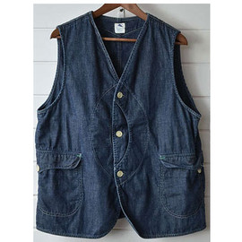 post overalls - ROYAL TRAVELER Vest Denim