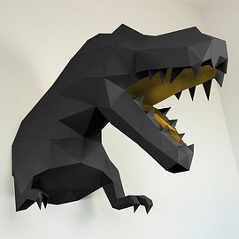 Papertrophy - T-Rex Black & Gold