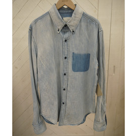 BAND OF OUTSIDERS - SHADOW PKT DENIM SHIRT (BL)