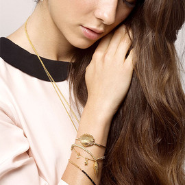 chibi jewels - Cockle Shell Cuff Bangle (Gold)
