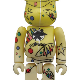MEDICOM TOY - WORLD WIDE TOUR BE@RBRICK 100% STUSSY