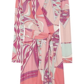 Emilio Pucci  - Wrap-effect printed silk-jersey dress