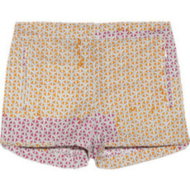 TIBI - Printed stretch-cotton shorts