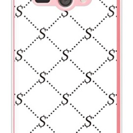 SECOND SKIN - S Monogram ホワイト×ブラック (クリア) design by ROTM / for AQUOS PHONE ss 205SH/SoftBank