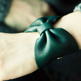 Of a Kind - LEATHER BOW CUFF