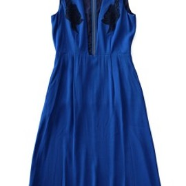 TOGA PULLA - Embroidery Georgette Dress (blue)