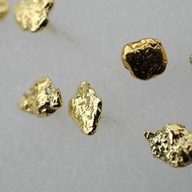 SOURCE - Gold Nugget Earrings - Small