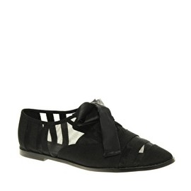 ASOS - MACEY Mesh Detail Shoes with Laces Black