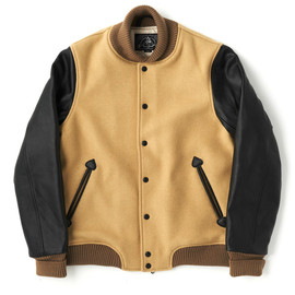 bal - LEATHER SLEEVE VARSITY JACKET