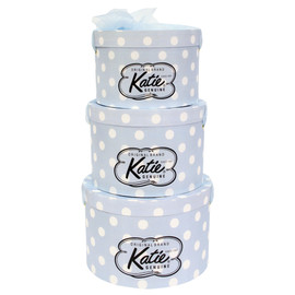 Katie - HAT BOX round DOT LOGO