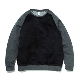 HEAD PORTER PLUS - FUR SWEATSHIRT BLACK