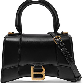 BALENCIAGA - Hourglass XS leather shoulder bag