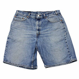 "LEVI'S - Vintage 1990s Levis 550 Jean Shorts ""Jorts"" Made in USA Mens Sz 36 Relaxed Fit"