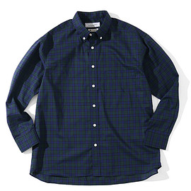 UNIVERSAL PRODUCTS - UNIVERSAL PRODUCTS T.M. PLAID BUTTON DOWN SHIRT[BLACK WATCH]