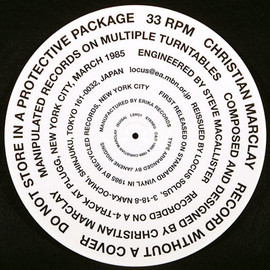 Christian Marclay - Record without a cover