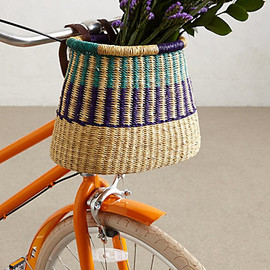 Anthropologie - Tonal Weave Bike Basket