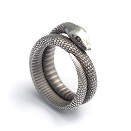 Shapeways - Snake Ring (various sizes) 3d printed
