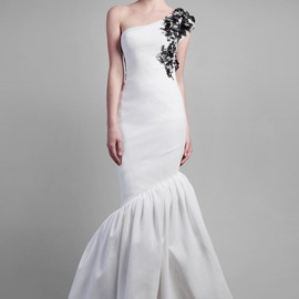 Gemy Maalouf - one shoulder white gown