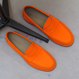 carven - carven orange loafers