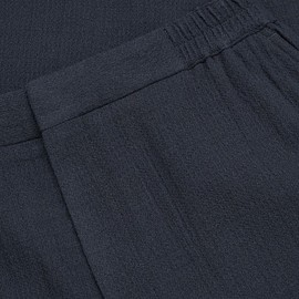 Cos - Wool chinos with elastic waist in Navy