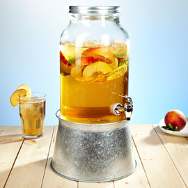 Mason Jar Beverage Dispenser w/ Party Tub