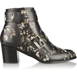 JASON WU - Floral-print leather ankle boots