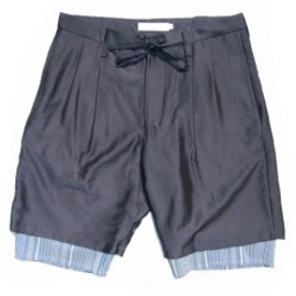 ETHOSENS - Layered shorts (NAVY / BLUE)
