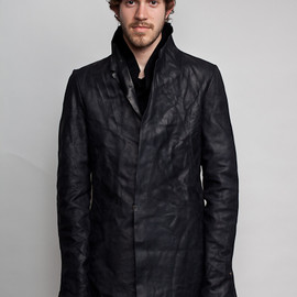 m.a+ - leather coat wool liner