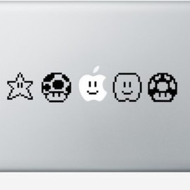 Pegbeard - Super Mario Bros. Apple Macbook Decals