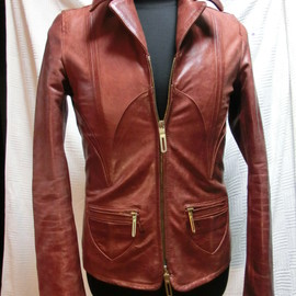 "GalaabenD - buffalo leather blouson sampling ""gandalfleather"""