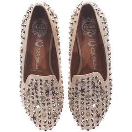 JEFFREY CAMPBELL - Elegant Stud Tan Studed loafers