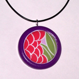 Luulla - Hand Painted Wooden Pendant Necklace