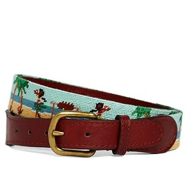 Brooks Brothers - Needlepoint Hula Belt