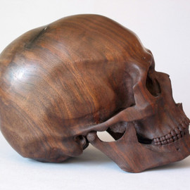 Dan Lucas - black walnut skull
