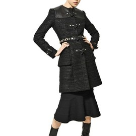 GIVENCHY - Nappa Wool Tweed Bouclé Coat in Black