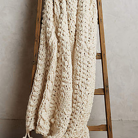 Anthropologie - Hand-Knit Sweater Throw
