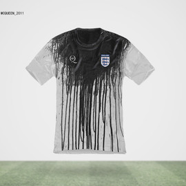 Alexander McQueen - ENGLAND Jersey(What if World Cup Jerseys were Designed by Famous Fashion Designers?)