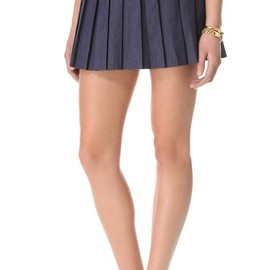 alice + olivia - Chambray Box Pleat Skirt