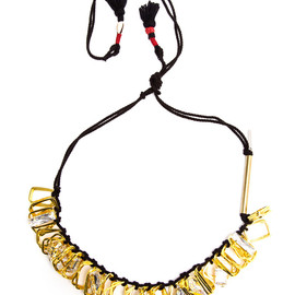 Dries Van Noten - Gold-tone Brass and Crystal Necklace